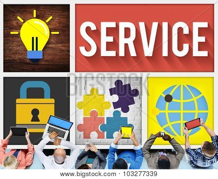 Service Support Customer Satisfaction Assistance Concept