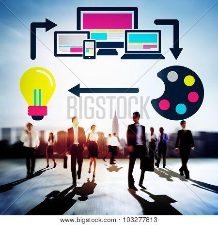 Web Design Online Technology Layout Design Concept