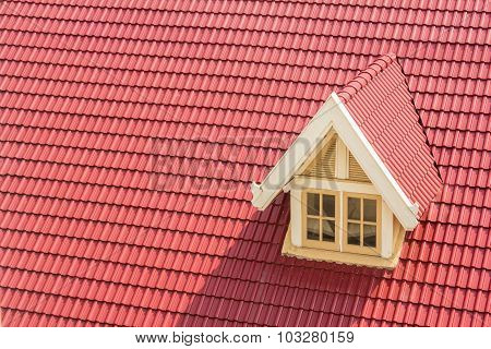 Dormer Window On Red Roof