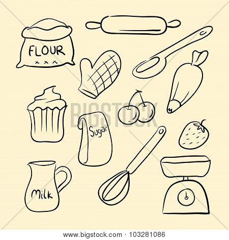 Baking Goods Doodle