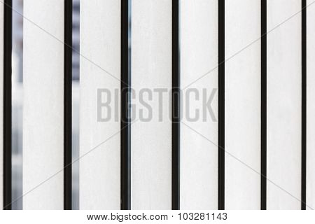 Closeup Of Steel Palisade Security Fence