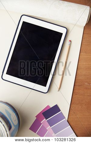 Home Improvement Application On Digital Tablet