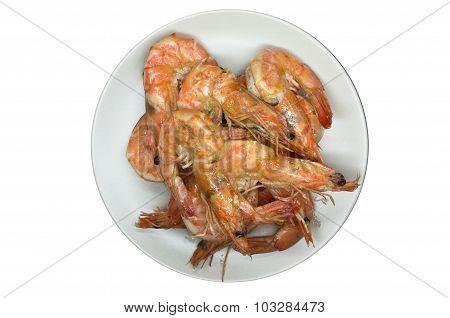 Cooked, boiled, steamed shrimp, prawn