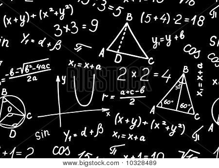 Algebra. Geometry. Abstract background. Seamless.