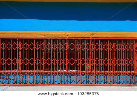 Colorful exterior business building