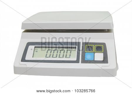 Digital scales isolated on white background
