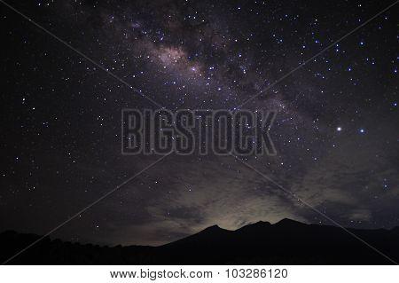 Milkyway on top of Mount RInjani Lombok Indonesia.