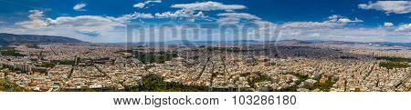 Huge Panorama View Of Athens