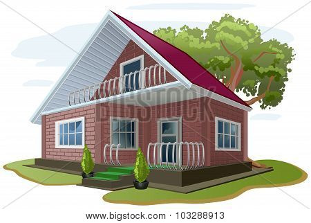 Brick house. Cottage. Vacation home. Country house