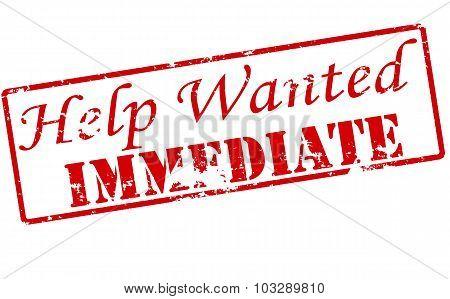Help Wanted Immediate