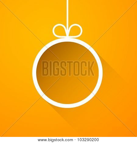 Christmas background with ball. Vector Illustration.