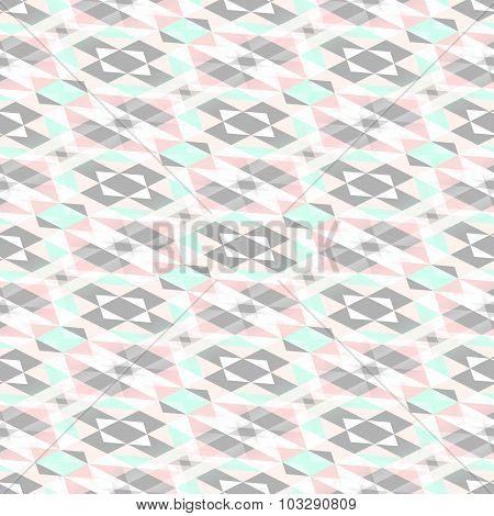 Seamless Geometrical Pattern In Pastel Colors