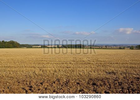 Wolds View And Wind Turbine