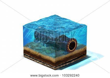 Oil Pipeline illustration