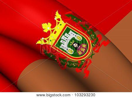 Flag Of Burgos City, Spain.