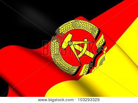 3D Flag of German Democratic Republic