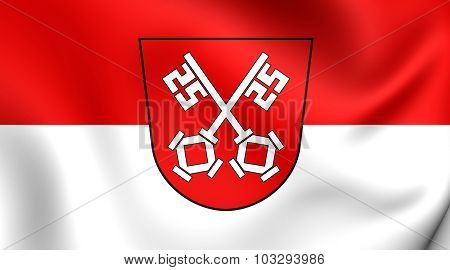 Flag Of Regensburg City, Germany.