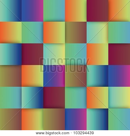 Colorful sqaures vector background