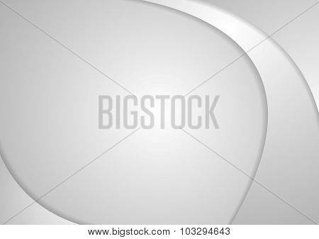 Abstract grey corporate waves. Vector background