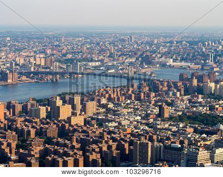 The Lower East Side and the Williamsburg Bridge in New York City