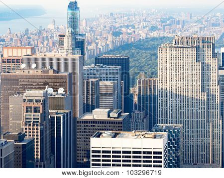 Midtown New York City with a view of Central Park