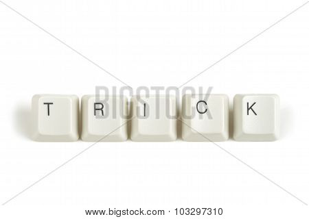 Trick From Scattered Keyboard Keys On White