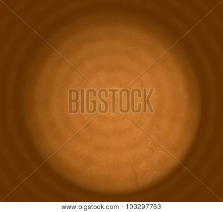 Abstract Orange Yellow Background With Concentric Circles