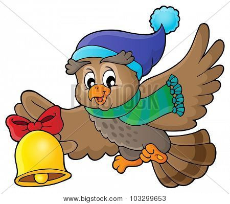 Christmas owl theme image 1 - eps10 vector illustration.