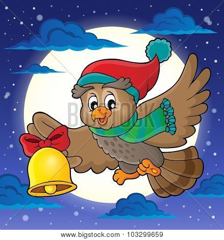 Christmas owl theme image 2 - eps10 vector illustration.