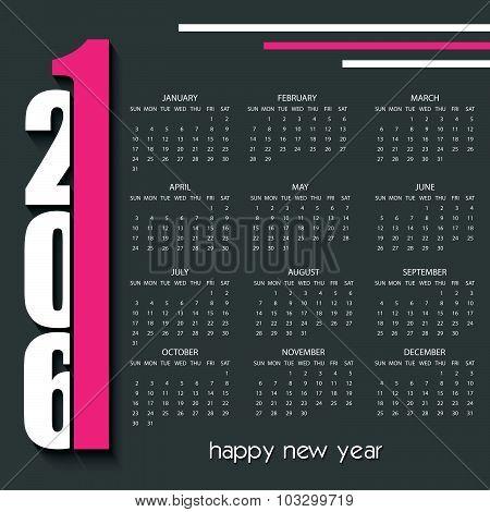 2016 Creative Calendar Design Template