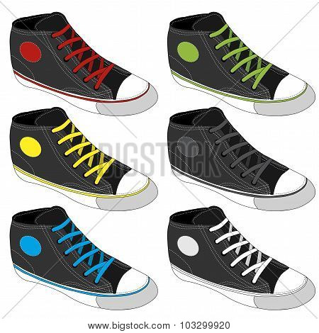 Classic sneaker sketched, Vector