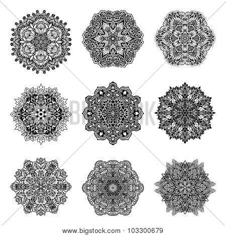 Decorative Mandalas Set