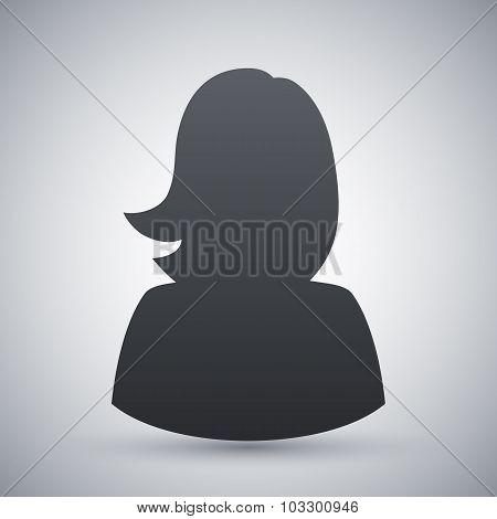 Vector Female User Icon