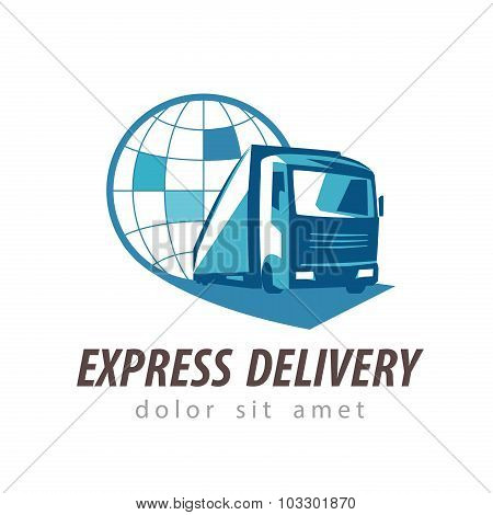 delivery vector logo design template. shipping or truck icon