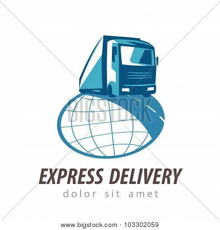 delivery vector logo design template. transportation or truck icon