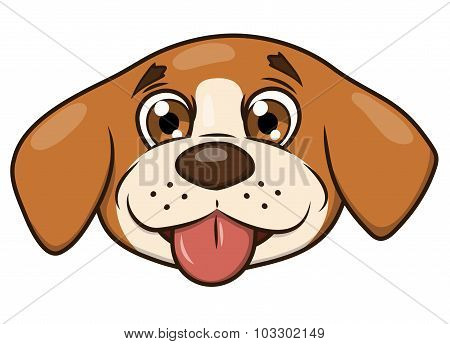 Smiling little puppy head 2