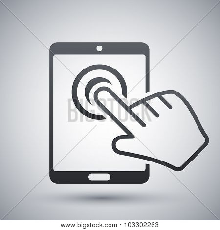 Vector Tablet Touch Screen Icon