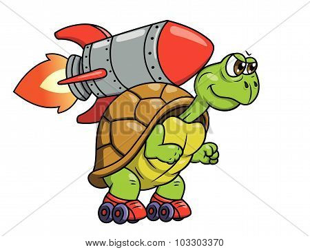 Turtle with rocket 2