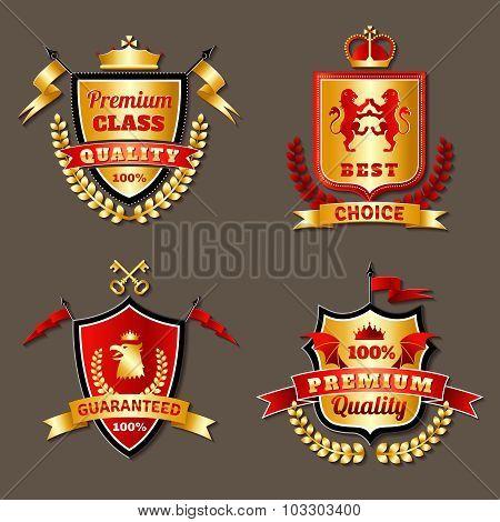 Heraldic Premium Realistic Emblems Set