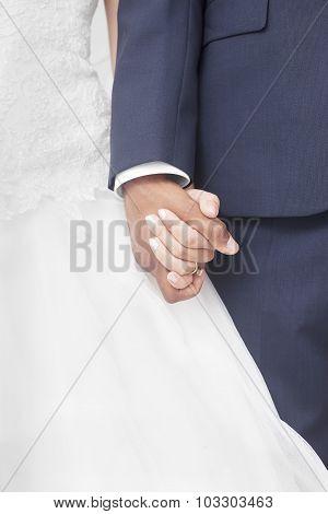 Interracial couple wedding