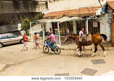 Old Medieval Arab Neighborhood Of Jaffa