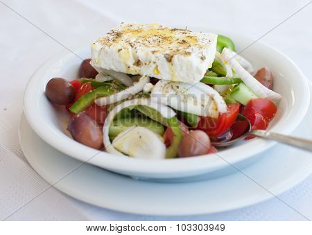 Greece food - Vegetable salad with cheese