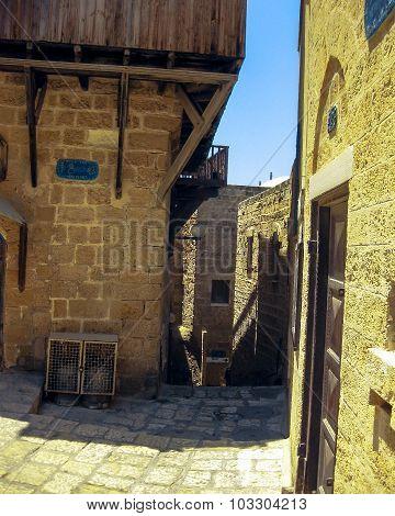Historic Buildings Of Crusades Era. Jaffa, Israel