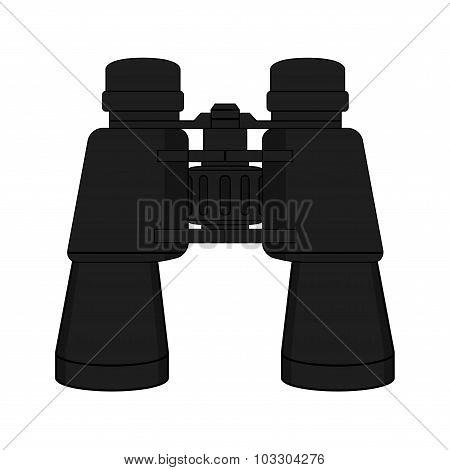 Vector binoculars icon. Color