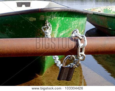 Padlock and boat