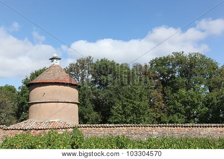Old dovecote in Beaujolais, France