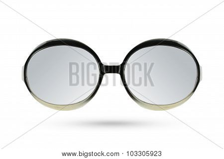 Cat Eyes Masquerade Fashion Glasses Style Isolated On White Background.