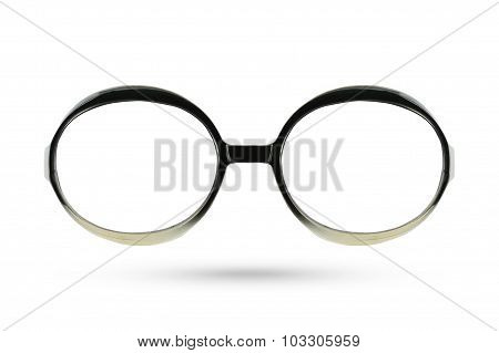 Women Eyes Masquerade Fashion Glasses Style Isolated On White Background.