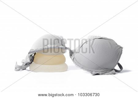 Silicone breast implant