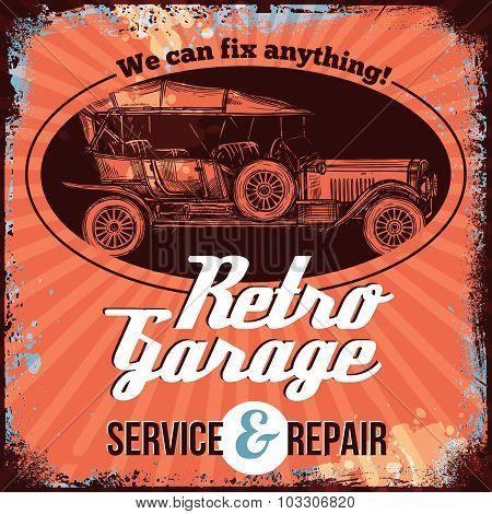 Vintage Car Service Design